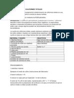 Determinacion de Coliformes Totales 1