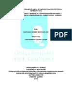 ENSAYO ACERCA DE LA IMPORTANCIA DE LA INVESTIGACIÓN HISTÓRICO-HERMENEUTICA