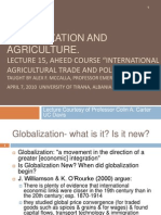 AHEED Lecture 15Globalization and Agriculture