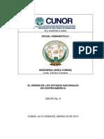 Origen de Los Estados Nacionales en Centroamerica