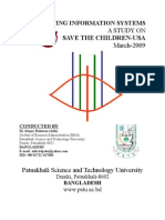 Accounting information systems-A Study on Save the children-USA