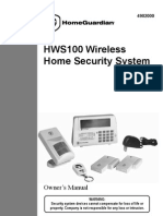 HOME GUARDIAN HWS100 Wireless Home Security System