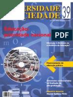 UNIVERSIDADE E SOCIEDADE nº.39