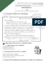 Guía N° 1 -Reconocer estructura y elementos de una carta  ( Letra D)