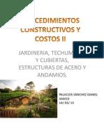 Presentacion Jardineria, Techumbres y Cubiertas, Estructuras de Acero y Andamios