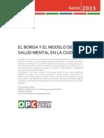 Borda Modelo de Salud Mental Ciudad 2013 Pulleiro