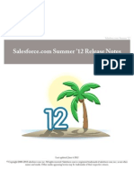 Salesforce Summer12 Release Notes