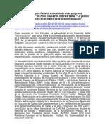 20130515. EL PROCESO DE DESCENTRALIZACIÓN DE LA GESTIÓN DE LA EDUCACIÓN PERUANA