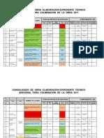 Consolidado Obra Elaboracion Expediente Tecnico Adicional Para Culminacion de La Obra 2011