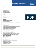 dsm5 table of contents
