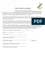 Walk-On Waiver Forms