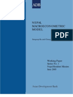 Nepal Macroeconomic Model