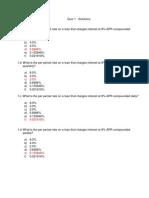 Quiz 1 - Solutions