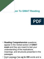 GMAT Reading Comprehension Practice Test