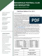2013 Newsletters Week 6
