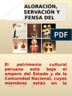 VALORACION, PRESERVACION DEL PATRIMONIO CULTURAL DEL PERU