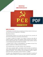 Proyecto de Línea Política del PCE