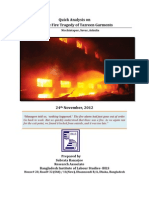 Tazreen Fire Tragedy Report