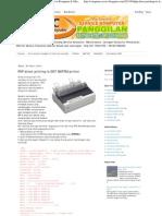 PHP Direct Printing to DOT MATRIX Printer