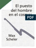 SCHELER  El puesto del hombre en el cosmos.pdf