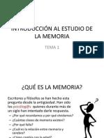 1.INTRODUCCIÓN AL ESTUDIO DE LA MEMORIA