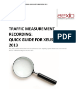 Aexio Xeus Pro 2013 Traffic Measurement Recording Quick Guide