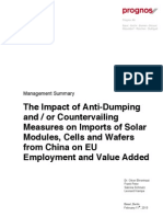 Prognos Employment and Value Added Effects of Ad Cvd Solar 14 February 2013 Management Summary Kopie