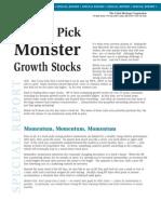 Monster Stocks