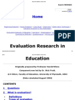 Evaluation Research in Education