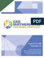 GED Mathematics Training Instit