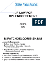 Air Law for Cpl Endorsement Prog 16 Hrs
