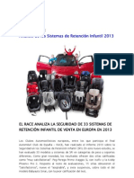 Informe completo de Sillas de Auto RACE 2013 | SillaCocheBebe.com