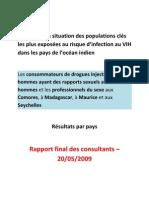 Rapport final 2009 - Populations Clés à Risque