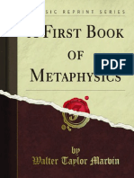 A First Book of Metaphysics