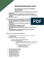 Cuestionario de Instalacion Linux