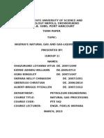 Nigeria's Gas and Gas-liquid Reserves