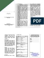 Leaflet Pelatihan Isolasi DNA