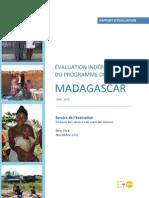 Evaluation Indépendante du Programme de Pays Madagascar 2008 - 2013
