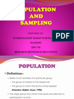 Sampling and Population