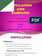 Sampling and Population