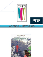 AGENDA – MAYO 2013