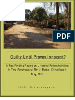 PUCL Chhattisgarh - FFT Report - Ednaar -Guilty Until Proven Innocent - 21 May 2013
