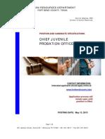 Chief Juvenile Probation Officer