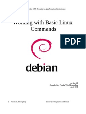 basic linux OS commands pdf | Command Line Interface