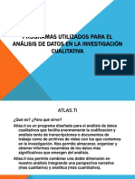 Programas utilizados para el análisis de datos en