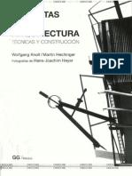 Maquetas de Arquitectura - Tecnicas y Construccion - Knoll, Hechinger (5ta Edición)