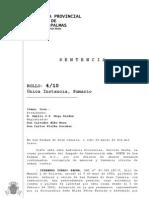 08032013 Sentencia AP Las Palmas Caso Kárate