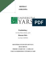 Cover Referat Ambliopia