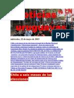 Noticias Uruguayas miércoles 22 de mayo del 2013