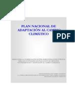 Plan Nacional de Adaptación al Cambio Climático